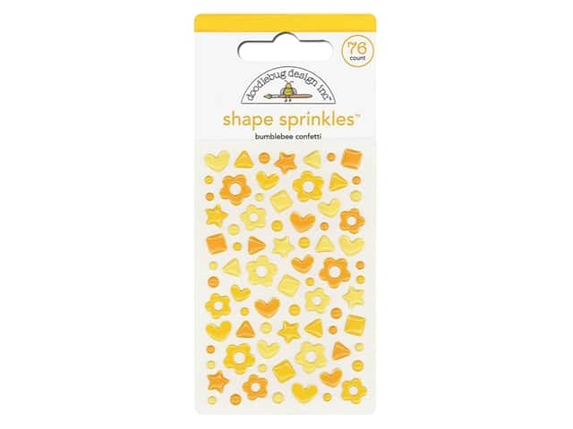 Doodlebug Stickers Shape Sprinkles Confetti Bumblebee