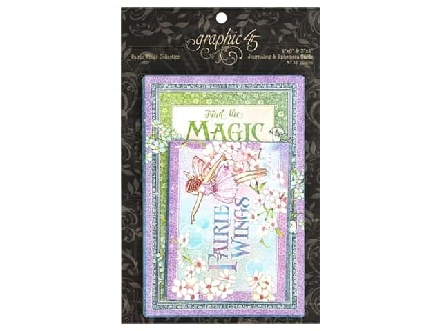 Graphic 45 Collection Fairie Wings Journaling and Ephemera Cards