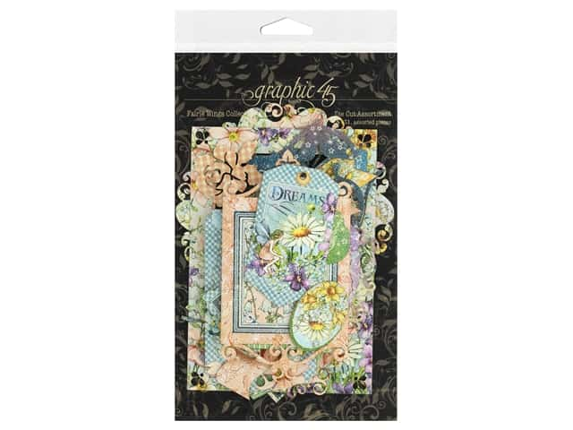 Graphic 45 Collection Fairie Wings Die Cut Assortment