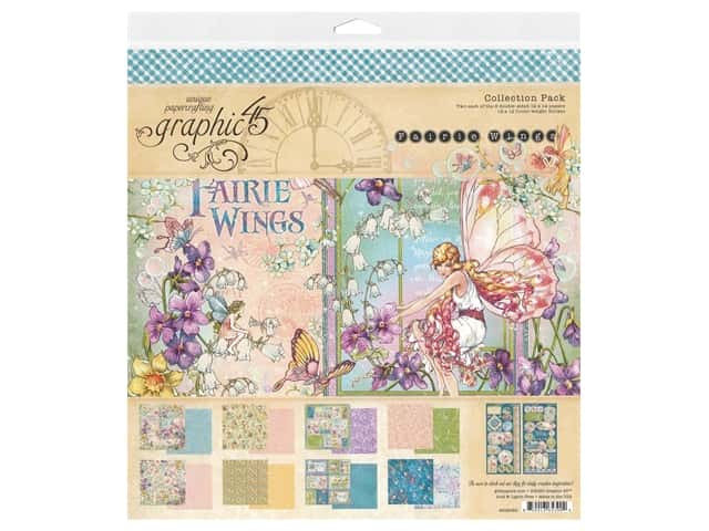 "Graphic 45 Collection Fairie Wings Collection Pack 12""x 12"""