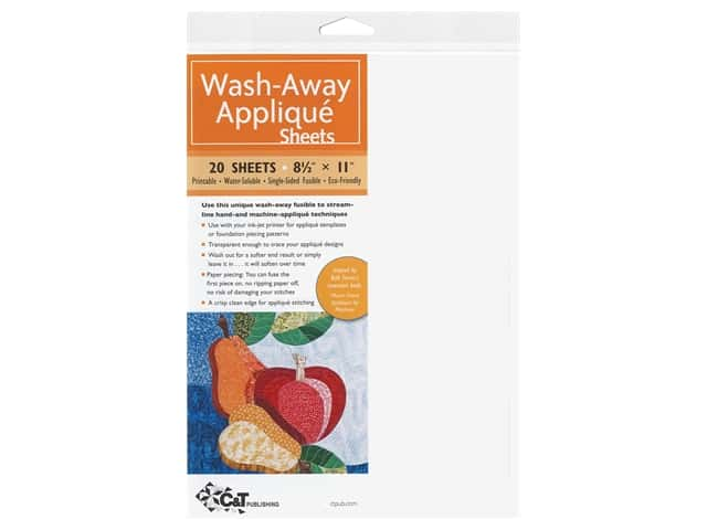 C&T Publishing Wash-Away Applique Sheets 8 1/2 x 11 in. 25 pc.