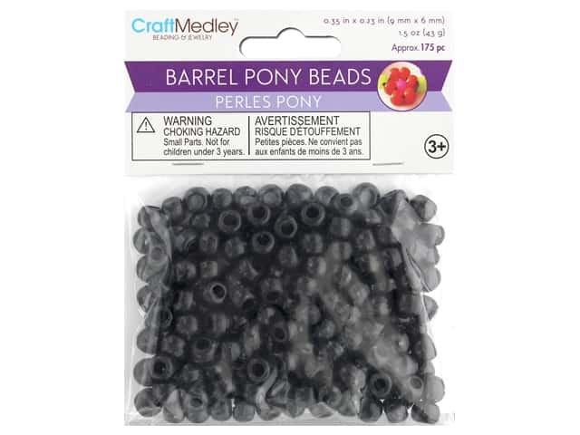 Multicraft Bead Pony 9mm x 6mm Barrel Black 1.5oz