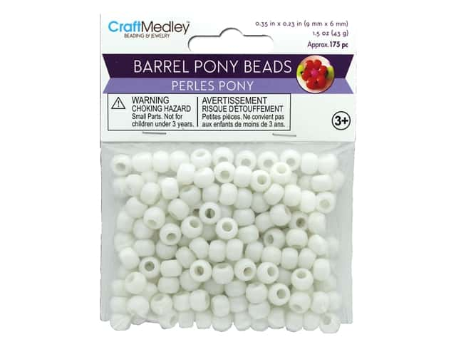 Multicraft Bead Pony 9mm x 6mm Barrel White 1.5oz