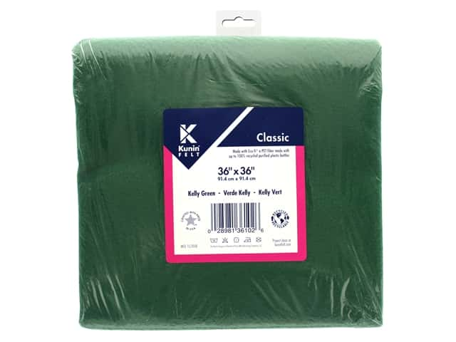 "Kunin Rainbow Classic Felt 36""x 36""Kelly Green"