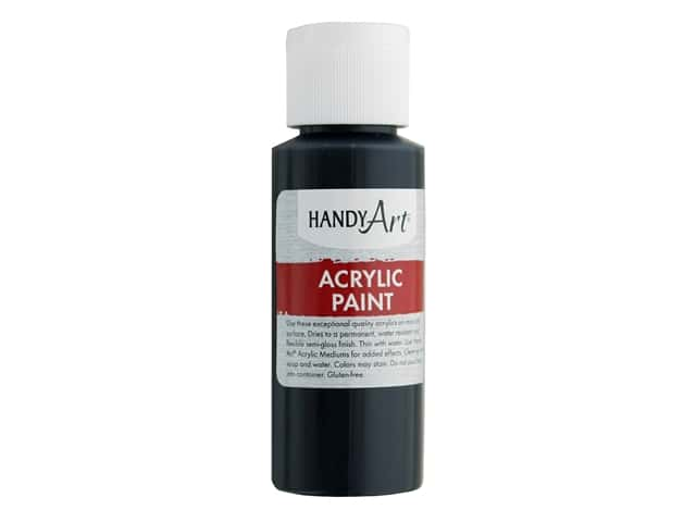 Handy Art Acrylic Paint 2 oz. Mars Black