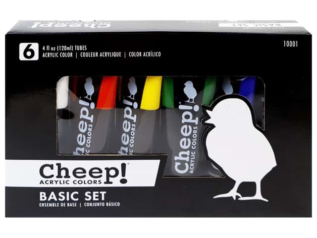 Cheep! Acrylic Paint Set 4 oz Basic 6 Color