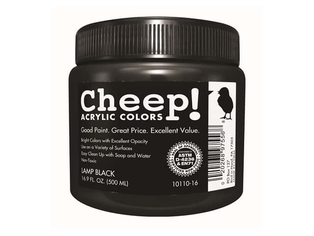 Cheep! Acrylic Paint 16.9oz Jar Lamp Black