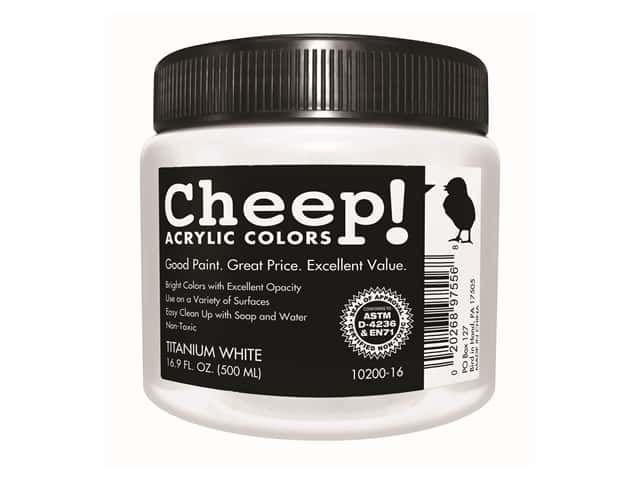 Cheep! Acrylic Paint 16.9 oz. Titanium White