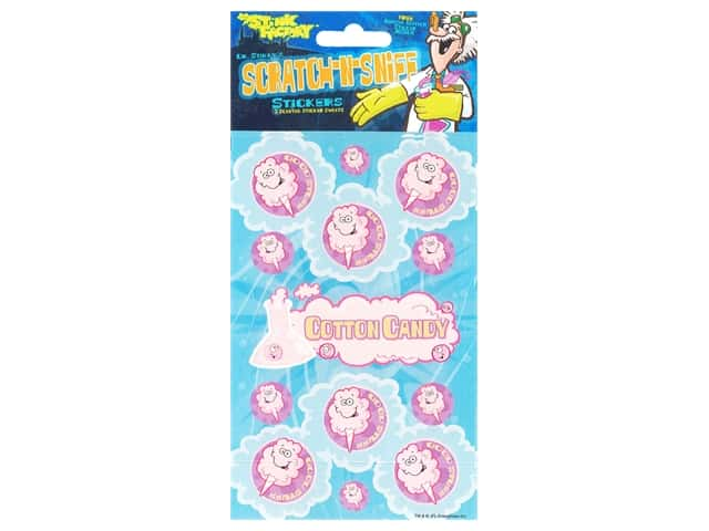 Just For Laughs Sticker Scratch N Sniff Cotton Candy