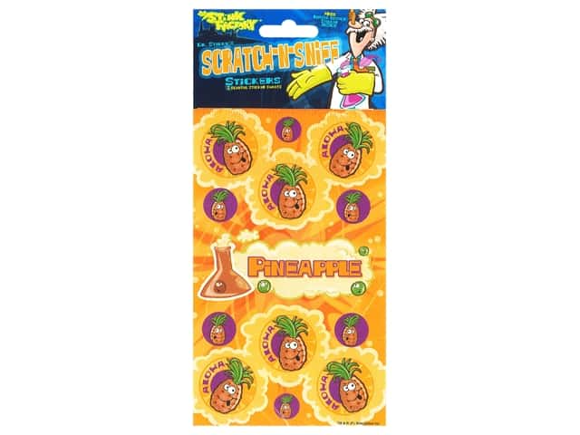 Just For Laughs Sticker Scratch N Sniff Pineapple