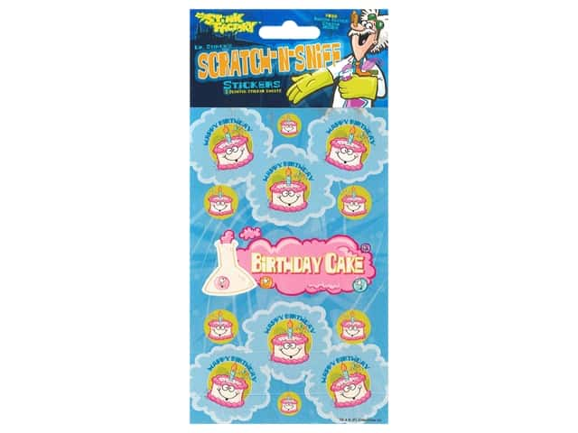 Just For Laughs Sticker Scratch N Sniff Birthday Cake