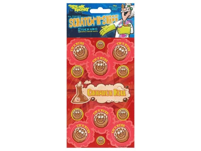 Just For Laughs Sticker Scratch-Sniff Cinnamon Roll