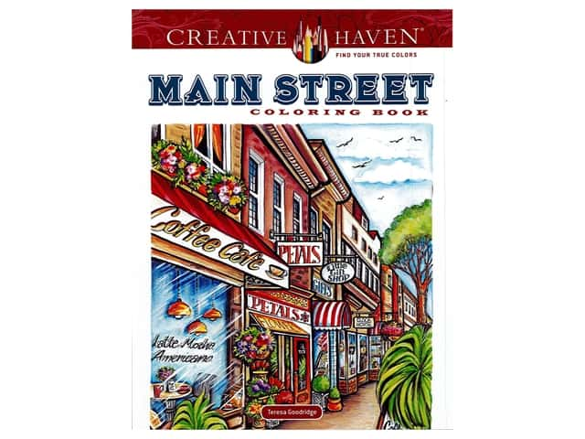 Dover Publications Creative Haven Main Street Coloring Book