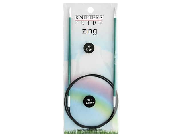 "Knitter's Pride Zing 32"" Fixed Circle Needle Size 3"