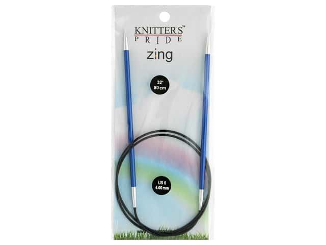 "Knitter's Pride Zing 32"" Fixed Circle Needle Size 6"