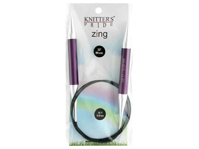 "Knitter's Pride Zing 32"" Fixed Circle Needle Size 17"