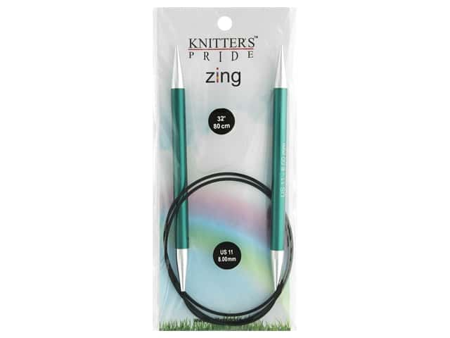 "Knitter's Pride Zing 32"" Fixed Circle Needle Size 11"