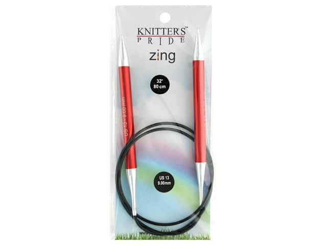 "Knitter's Pride Zing 32"" Fixed Circle Needle Size 13"