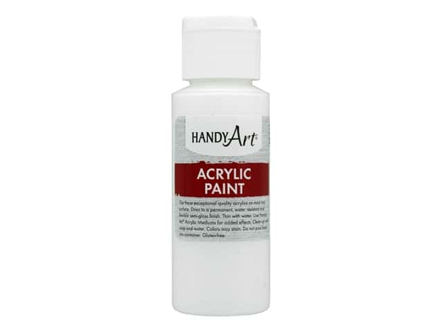 Handy Art Acrylic Paint 2 oz. Titanium White