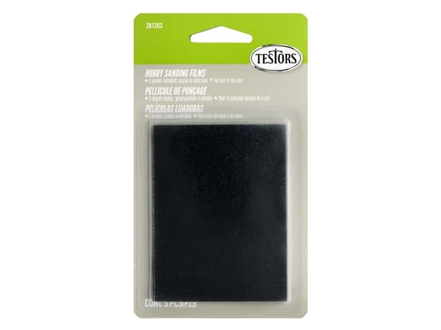 Testors Accessories Sandpaper 5pc