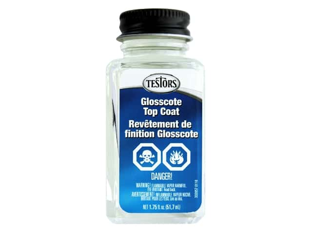 Testors Accessories Lacquer Top Coat Liquid Glosscote 1.75oz