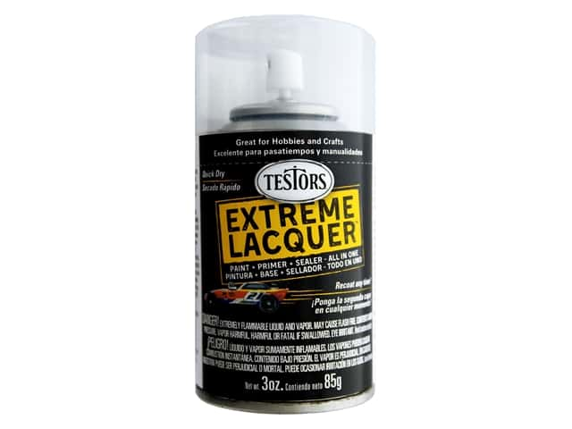 Testors Extreme Lacquer Spray Wet Look Clear 3oz
