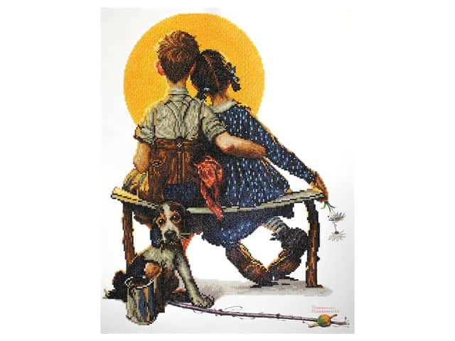 Camelot Dotz Diamond Painting Kit Boy and Girl Gazing at the Moon