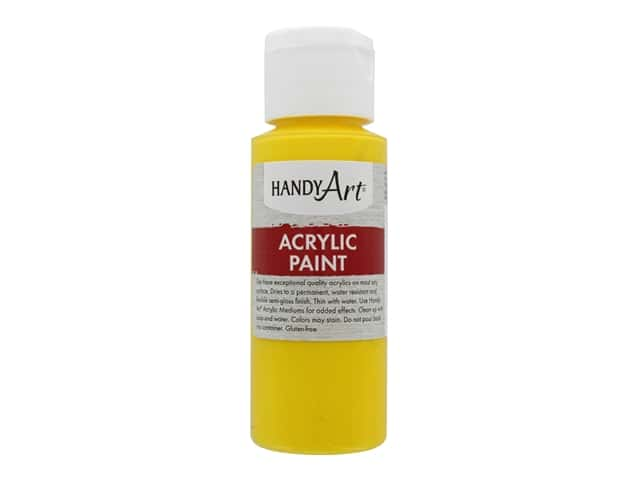 Handy Art Acrylic Paint 2 oz. Primary Yellow