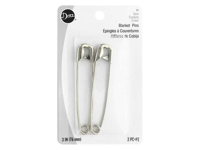 Dritz Blanket Pins 3 in. Nickel 2 pc.