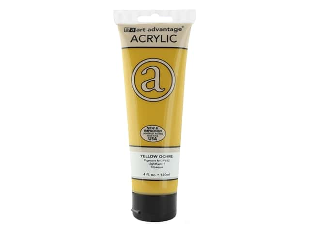 Art Advantage Acrylic Paint 4 oz. Yellow Ochre