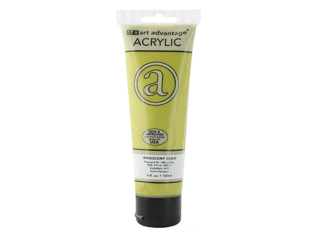 Art Advantage Acrylic Paint 4 oz. Iridescent Gold