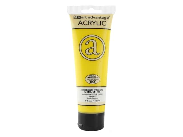 Art Advantage Acrylic Paint 4 oz. Cadmium Yellow Medium Hue