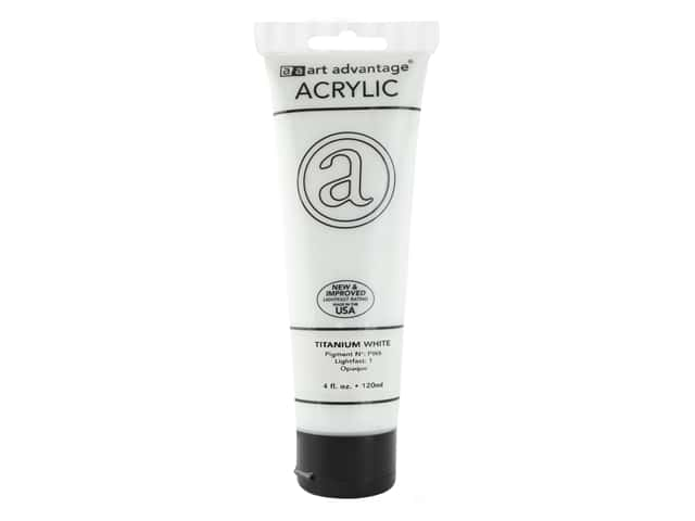 Art Advantage Acrylic Paint 4 oz. Titanium White