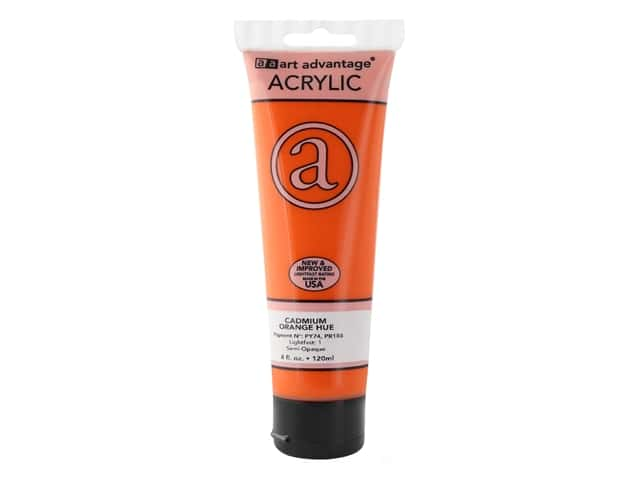 Art Advantage Acrylic Paint 4 oz. Cadmium Orange Hue