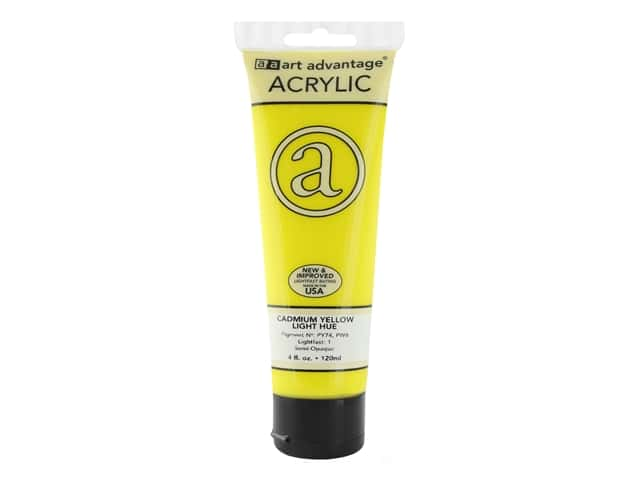 Art Advantage Acrylic Paint 4 oz. Cadmium Yellow Light Hue