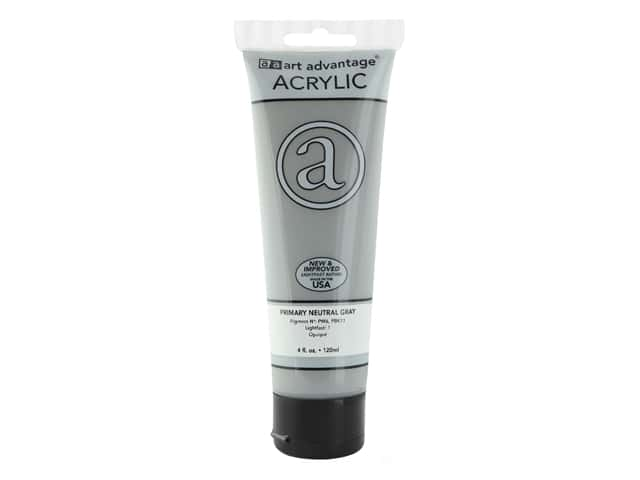 Art Advantage Acrylic Paint 4oz Primary Neutral Gray