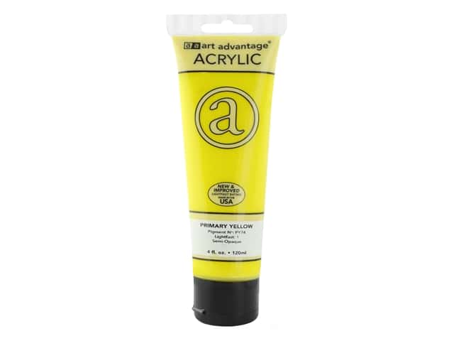 Art Advantage Acrylic Paint 4 oz. Primary Yellow