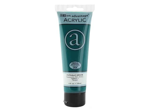 Art Advantage Acrylic Paint 4 oz. Phthalo Green