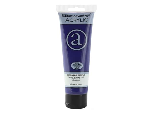 Art Advantage Acrylic Paint 4 oz. Dioxazine Purple