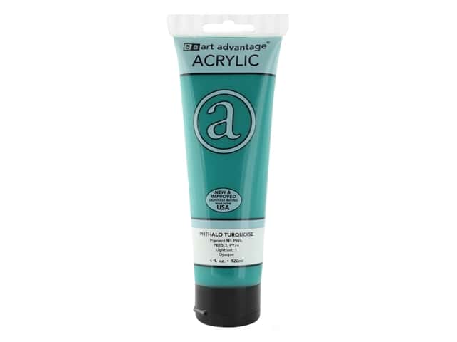 Art Advantage Acrylic Paint 4 oz. Phthalo Turquoise