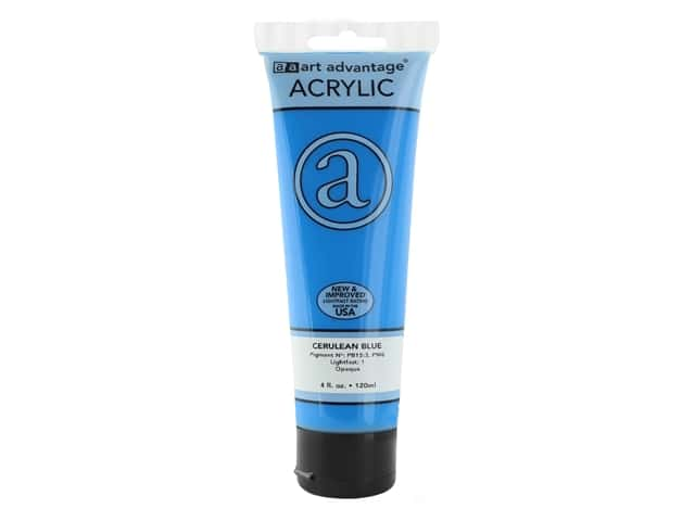 Art Advantage Acrylic Paint 4oz Cerulean Blue