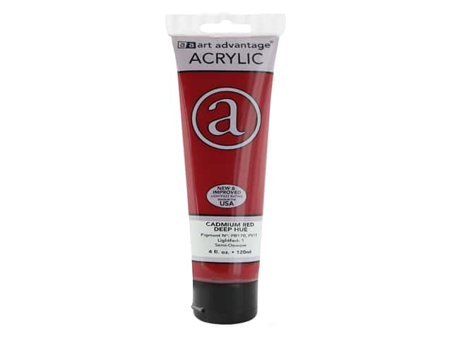 Art Advantage Acrylic Paint 4 oz. Cadmium Red Deep Hue