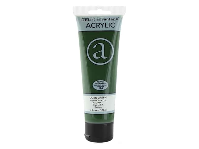 Art Advantage Acrylic Paint 4 oz. Olive Green