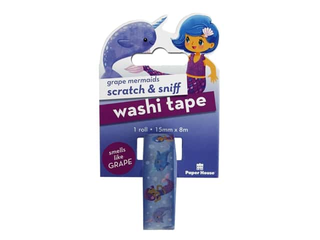 Paper House Washi Tape Scratch & Sniff Grape Mermaids