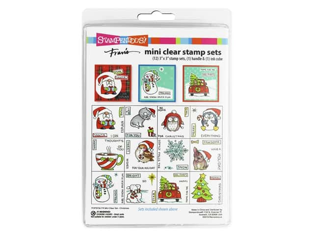 Stampendous Fran's Mini Clear Stamp Set - Christmas