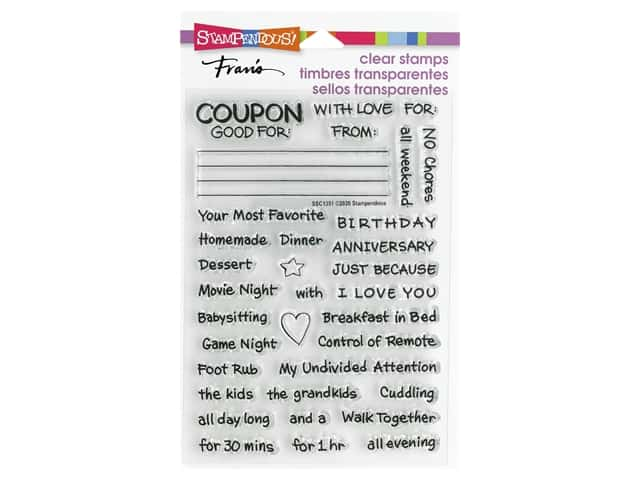 Stampendous Clear Stamp Fran's Coupons Gift