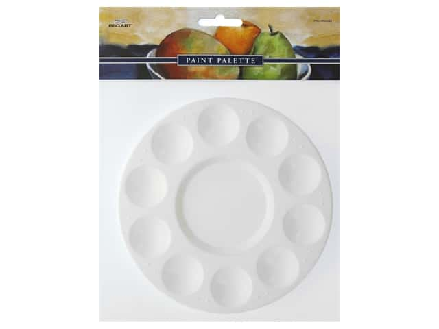 Pro Art 10-Well Round Plastic Palette Tray