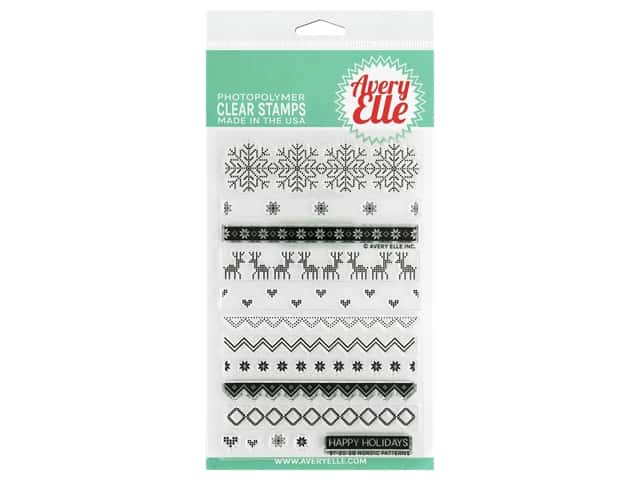 Avery Elle Clear Stamp Nordic Patterns