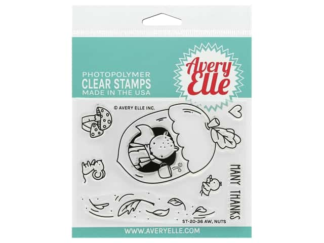 Avery Elle Clear Stamp Aw Nuts