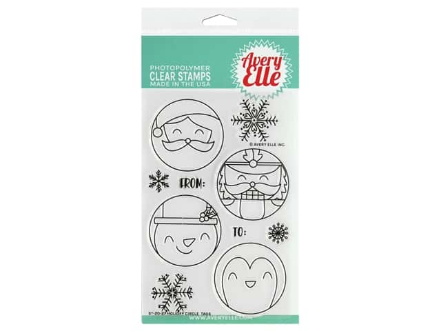 Avery Elle Clear Stamp Holiday Circle Tags